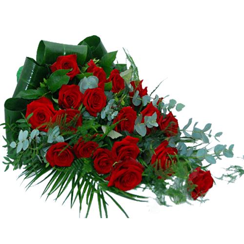 Rouwboeket van rode rozen bestellen of bezorgen online