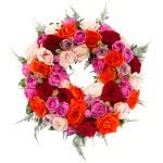 Rouwkrans Ajour gemengde rozen bestellen of bezorgen online