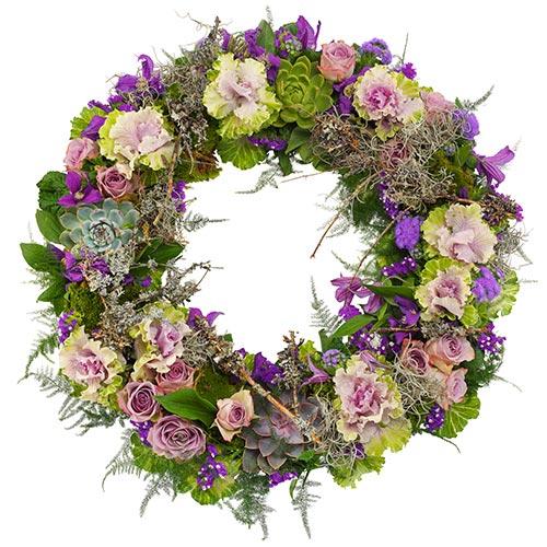 Rouwkrans Ajour lila-paars bestellen of bezorgen online