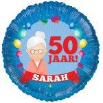 Sarah 50 jaar ballon bestellen of bezorgen online