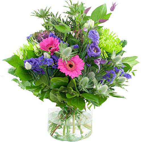 Seizoensboeket Roze lila/paars bestellen of bezorgen online