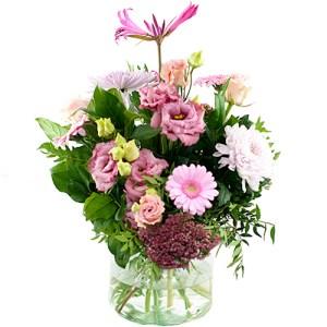 Seizoensboeket roze bestellen of bezorgen online