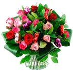 Valentijn boeket mix rozen bestellen of bezorgen online
