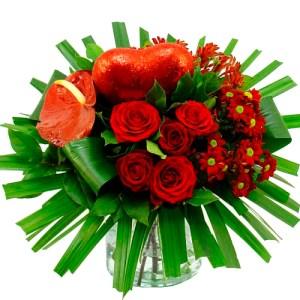 Valentijn boeket rood gegroepeerd bestellen of bezorgen online