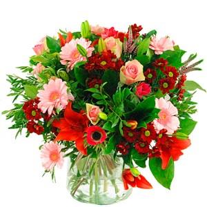 Valentijn boeket roze rood bestellen of bezorgen online