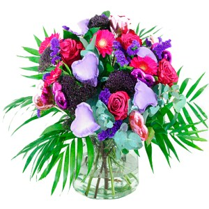 boeket lila paars bestellen of bezorgen online