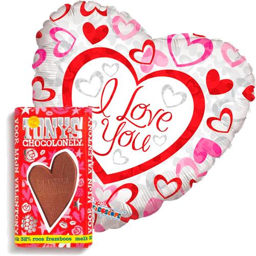 i love you hartjes ballon met valentijn tony's bestellen of bezorgen online