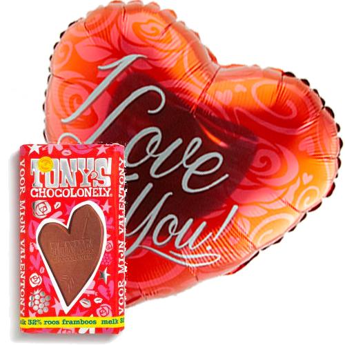 i love you rood ballon met valentijn tony's bestellen of bezorgen online