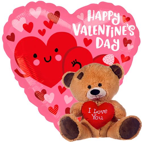 valentine hearts + beertje met hart bestellen of bezorgen online