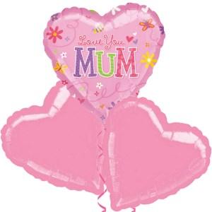Ballonboeket Love you Mum bestellen of bezorgen online