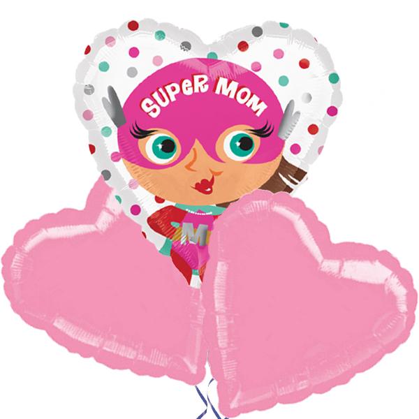 Ballonboeket Super Mom bestellen of bezorgen online