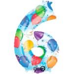 Nummer 6 (balloons) -50% bestellen of bezorgen online