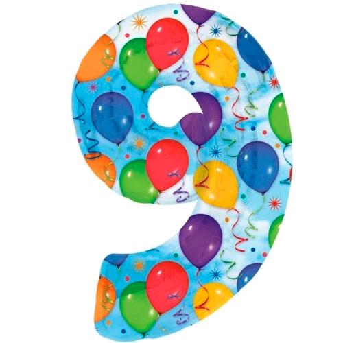 Nummer 9 (balloons) -50% bestellen of bezorgen online