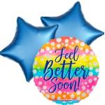 Ballonboeket Get well soon! (dots) bestellen of bezorgen online