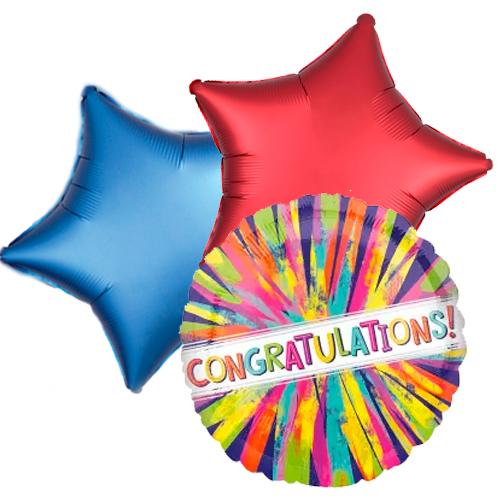 Ballonboeket congrats painterly burst bestellen of bezorgen online