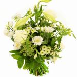 Speels boeket witte bloemen bestellen of bezorgen
