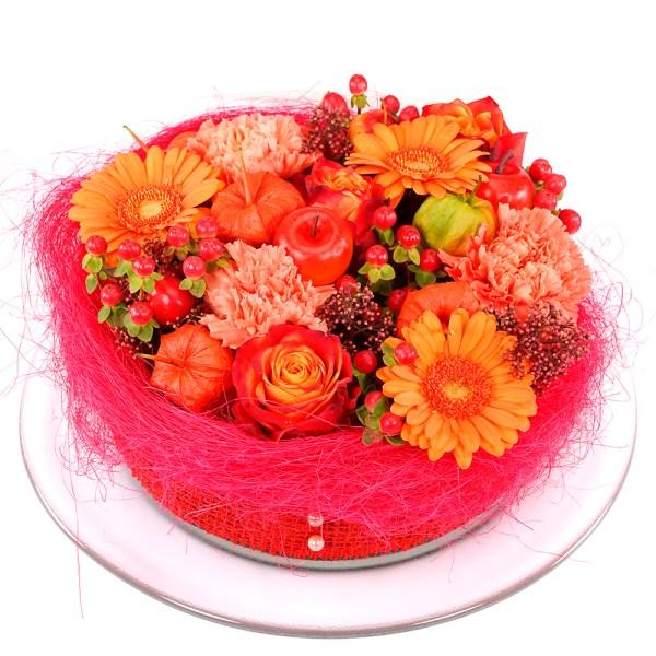 Herfst bloementaart bestellen bestellen of bezorgen