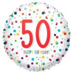 50ste verjaardag ballon confetti bestellen of bezorgen online