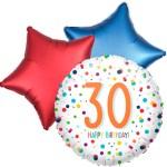 Ballonboeket confetti 30ste verjaardag bestellen of bezorgen online