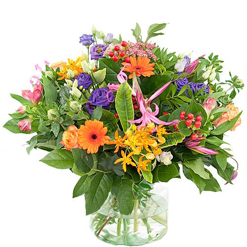 Najaarsboeket oranje/roze/paars bestellen of bezorgen online