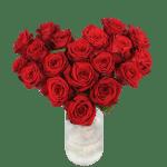 Hart boeket rode rozen bestellen of bezorgen