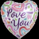 Heliumballon love you bestellen of bezorgen