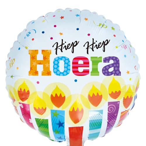 Hiep Hiep Hoera ballon bestellen of bezorgen online