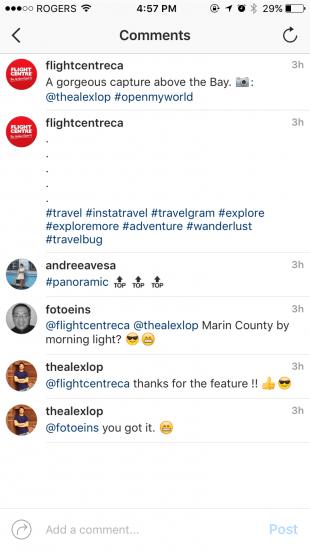 hide hashtags Instagram comments