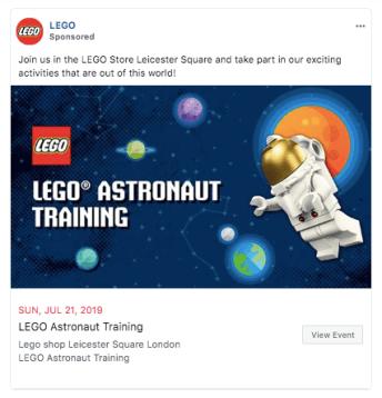 Annuncio Facebook LEGO