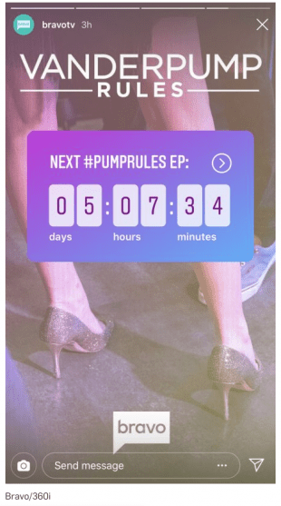 Instagram Story with countdown sticker: Next Pump Rules Ep: 5 days 7 hours 34 minutes