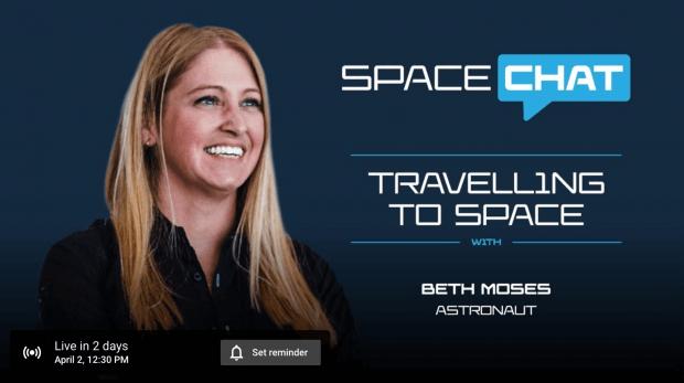 Space Chat Virgin Galactic YouTube promemoria live per 2 giorni dopo