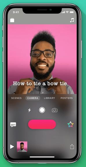 Apple Clips app for social media
