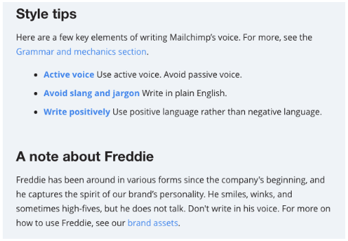 MailChimp style guide