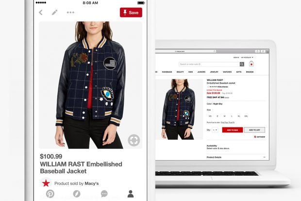 a Shop the Look Pin on mobile and desktop