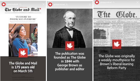 instagram stories templates by the Globe and Mail