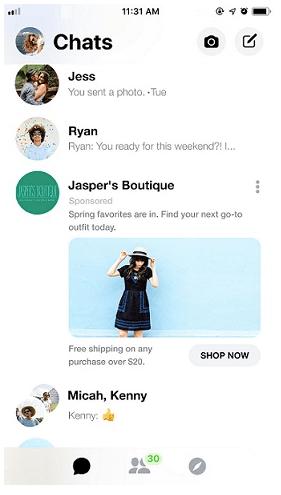 facebook messenger advertisement