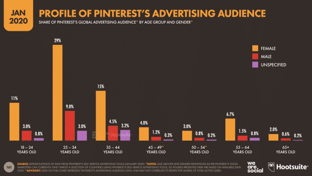 Profil d'audience de Pinterest