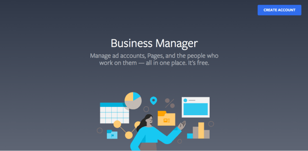 Facebook Business Manager welcome page