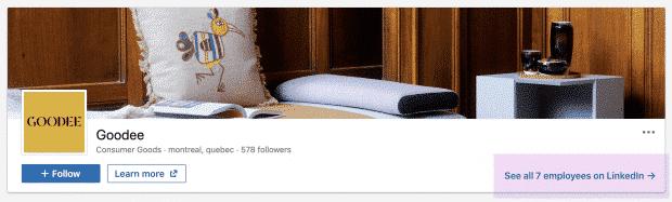 Goodee LinkedIn page banner