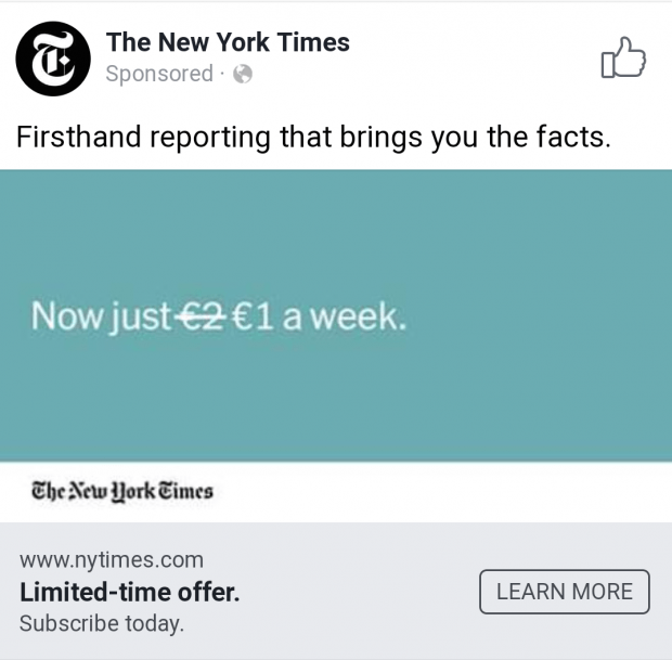 Facebook Ads The New York Times