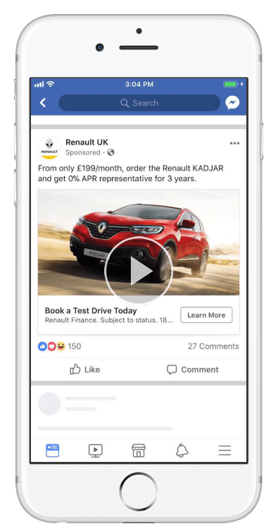 facebook renault ad