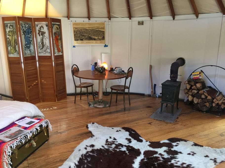 yurt winter camping around new york