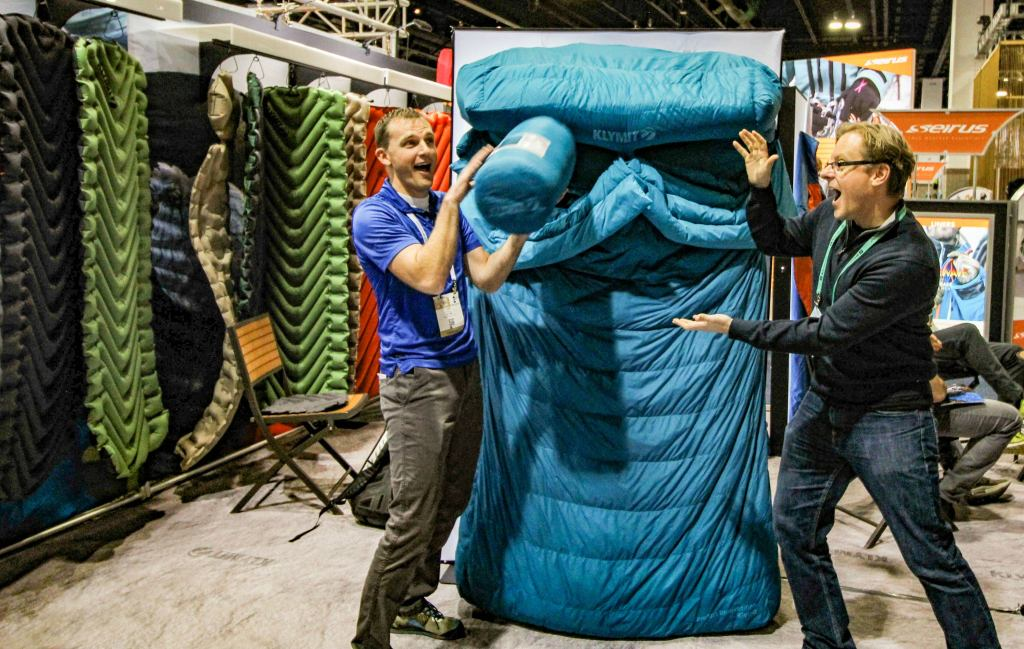 double sleeping bag demo