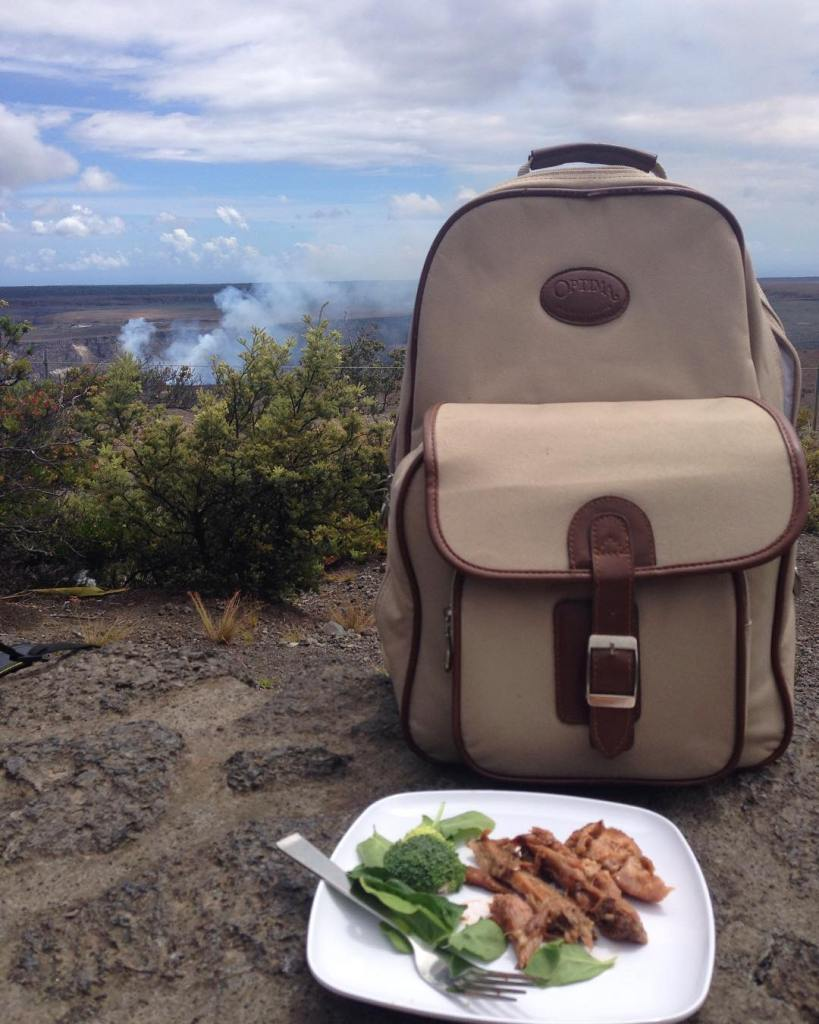 Plan for your outdoor picnic by storing your food in a handy bag or basket.
