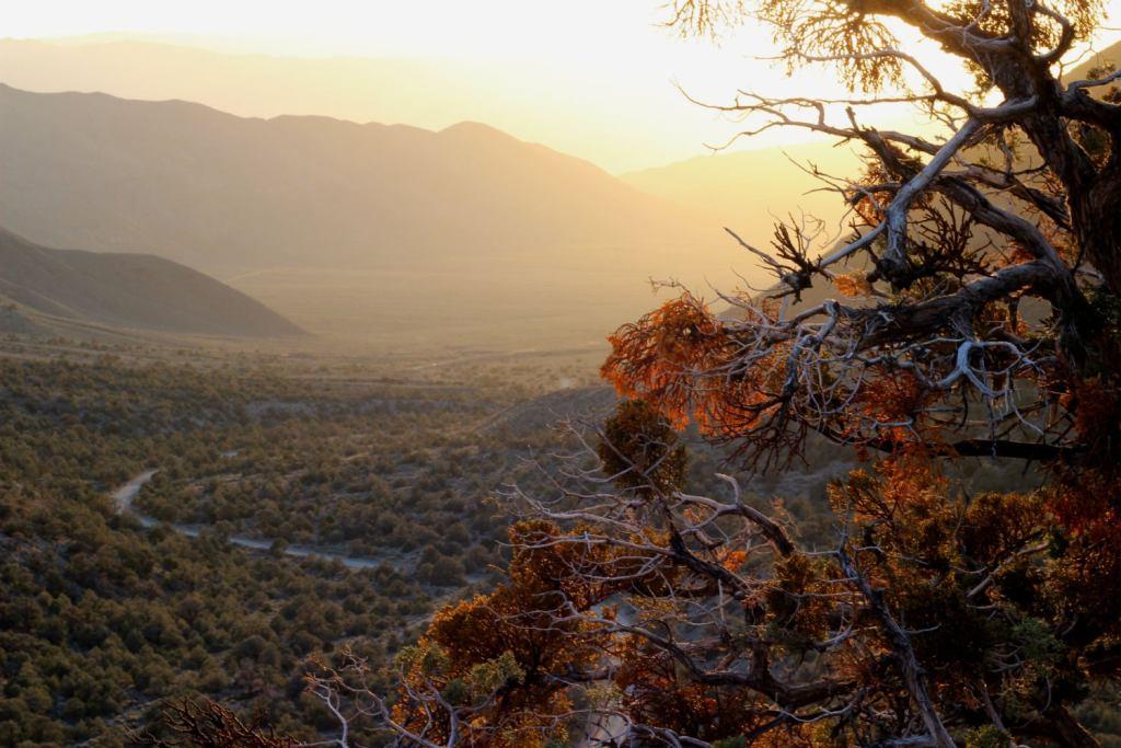 death valley sunset from wildrose peak