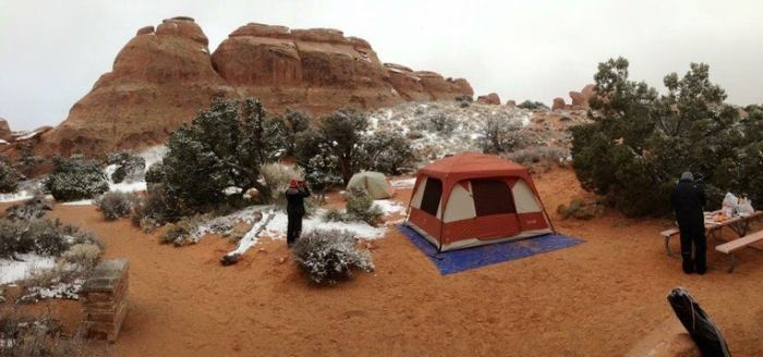 arches national park camping