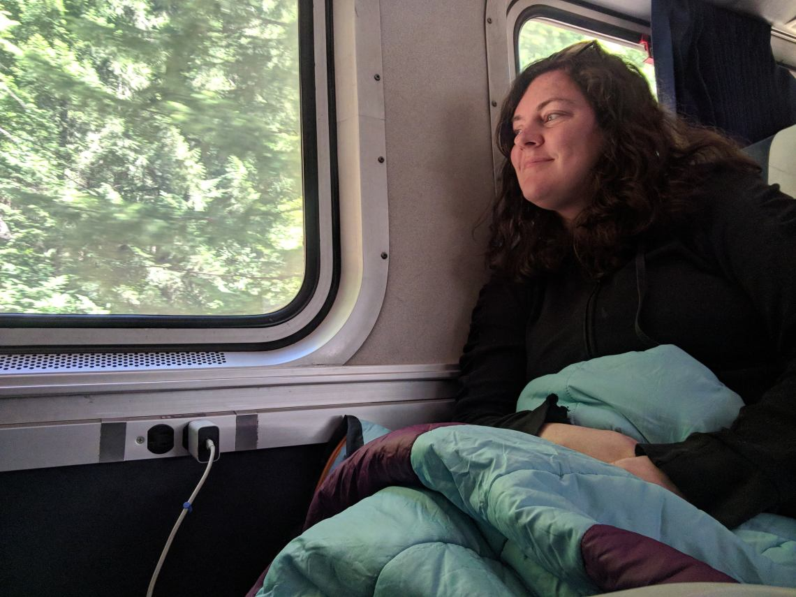 camping without a car on the train