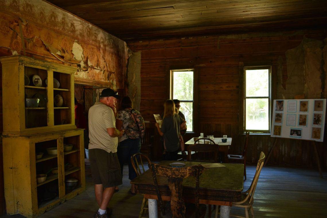 Inside abandoned building in Garnet Ghost Town, Montana