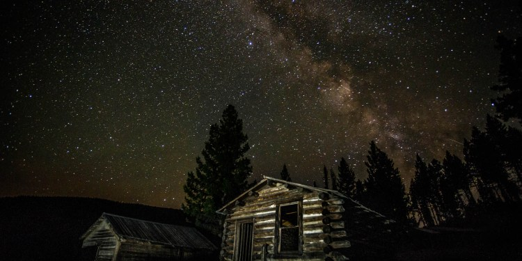 Milky Way over Garnet Ghost Town, Montana