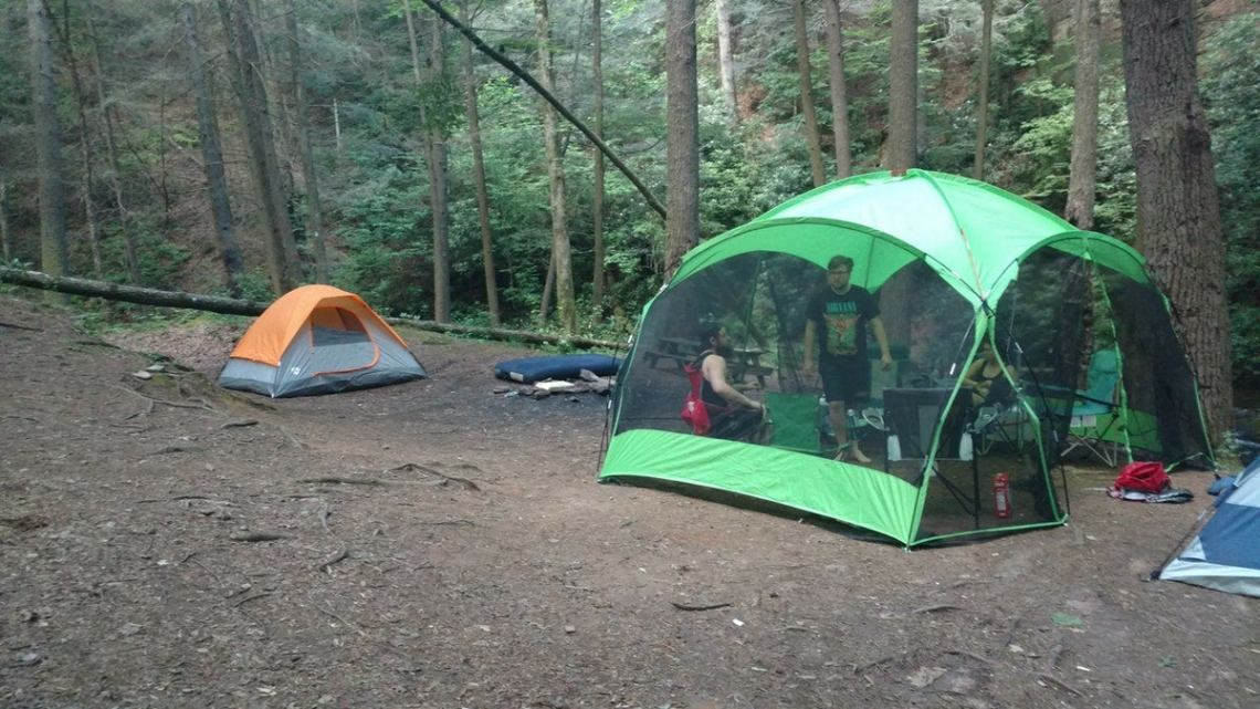 tents at raven cliff falls campground